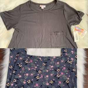 LuLaRoe Carly Dress & Mickey Legging Set